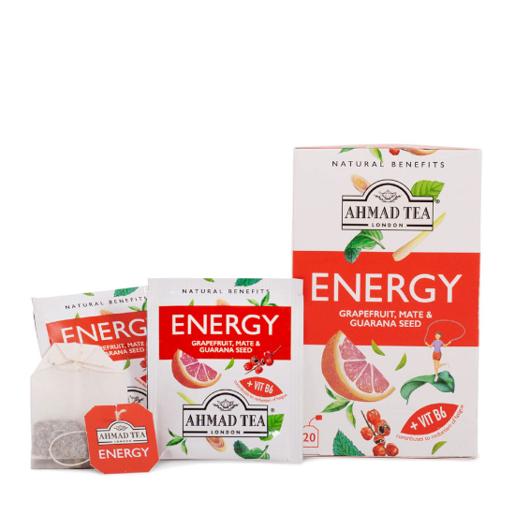 Ahmad Energy Grapefruit, Mate & Guarana Seed 20 saszetek
