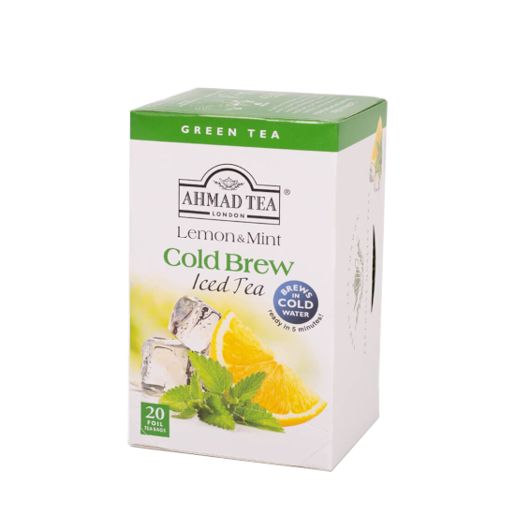 Ahmad Lemon & Mint Cold Brew Iced Green Tea 20 szt