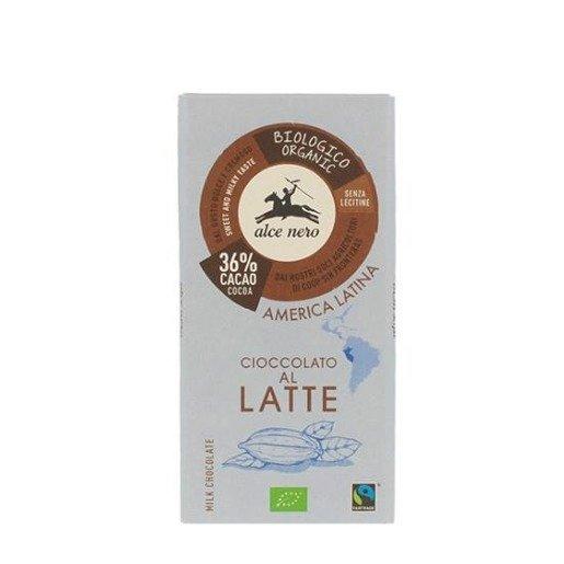Alce Nero Cioccolato Al Latte BIO mleczna 100g