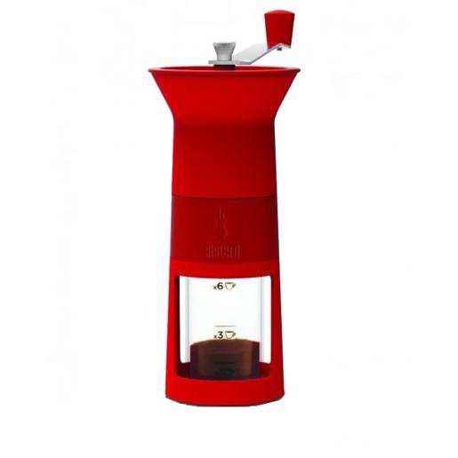 Bialetti młynek do kawy - czerwony