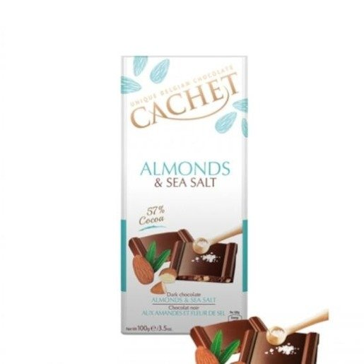 Cachet - Almonds & Sea Salt 100g