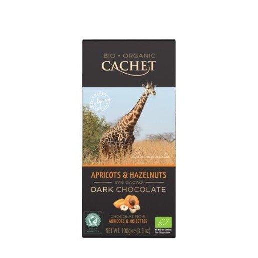 Cachet - Czekolada Apricots Hazelnuts 100g