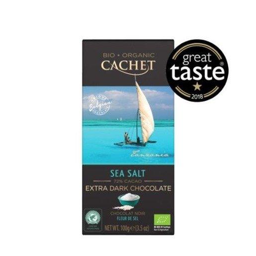 Cachet - Czekolada Extra Dark Chocolate z solą morską 100g