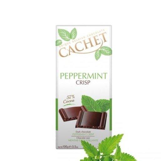 Cachet - Peppermint Crisp 57% Cocoa 100g