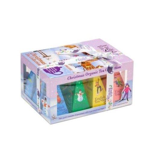 Christmas Tea Collection - zestaw 12 piramidek fioletowy