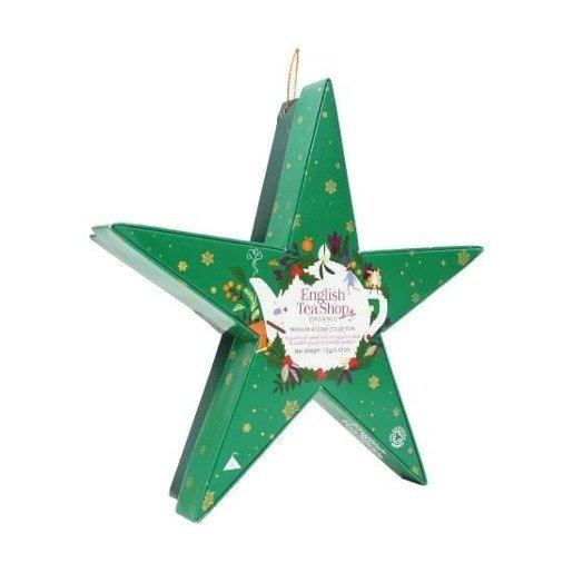English Tea Shop Holiday Collection Green Star - gwiazdka 6 piramidek
