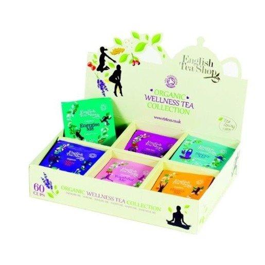 English Tea Shop Organic Wellness Sampler Tray - 60 saszetek