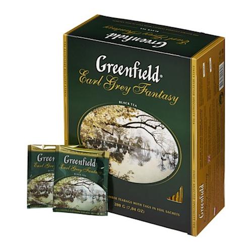 Greenfield Earl Grey Fantasy 200g czarna herbata w saszetkach