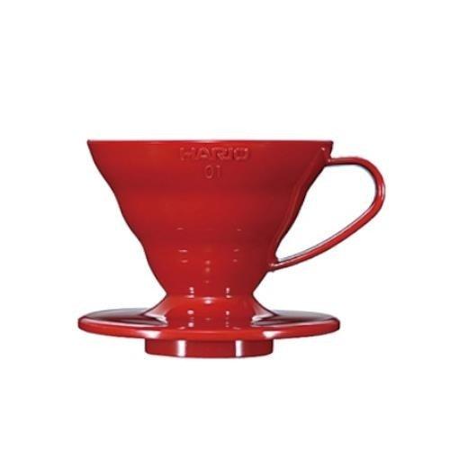 Hario V60-01 drip czerwony plastikowy
