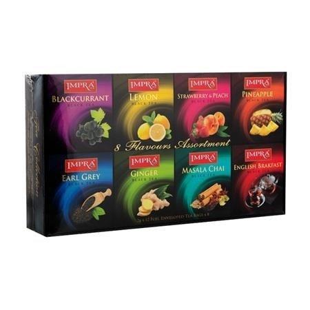 Impra Gift Pack Black 96x2g - Zestaw czarnych herbat aromatyzowanych kopertowanych