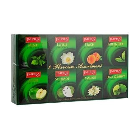 Impra Gift Pack Green 96x2g - Zestaw zielonych herbat aromatyzowanych kopertowanych