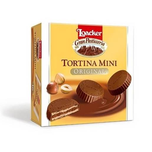Loacker Tortina Mini Original mini wafle w mlecznej czekoladzie 144g