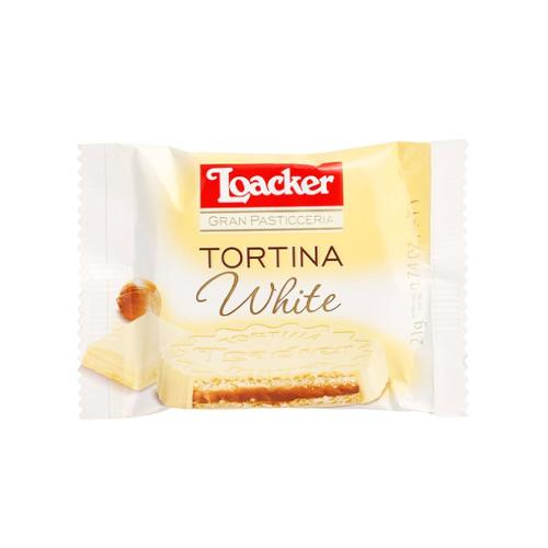 Loacker White Tortina - wafel w białej czekoladzie 21g