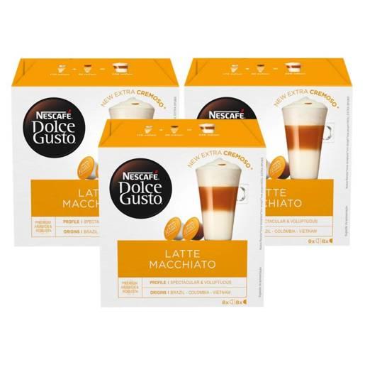 Nescafe Dolce Gusto Latte Macchiato - 8+8 kapsułek x 3