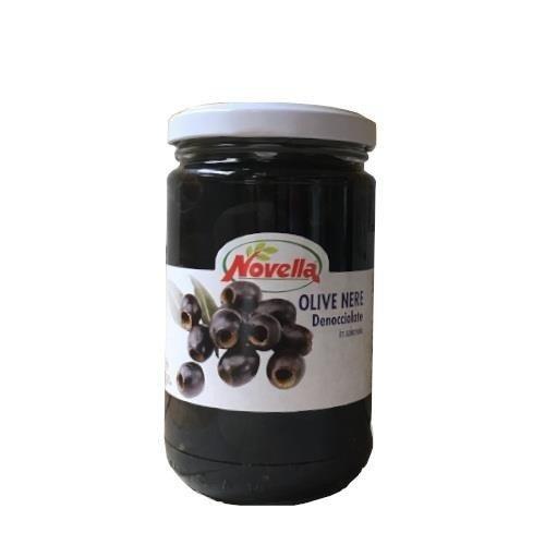 Novella Olive Nere Denocciolate -  314 ml oliwki czarne drylowane w solance