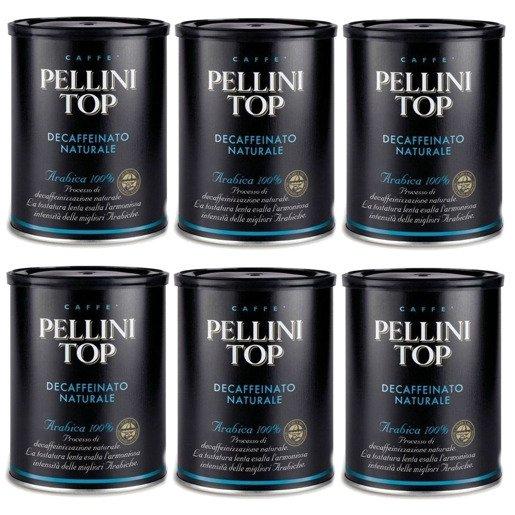 Pellini Top Bezkofeinowa 250g kawa mielona x6