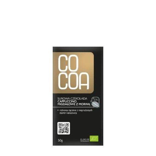 Raw Cocoa - czekolada surowa cappuccino migdałowe z morwą BIO 50g