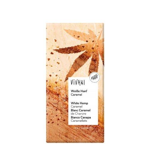 Vivani Czekolada waniliowa z nasionami konopi 80 g