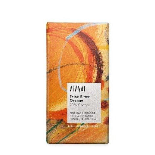 Vivani - czekolada gorzka o smaku pomarańczy 100g