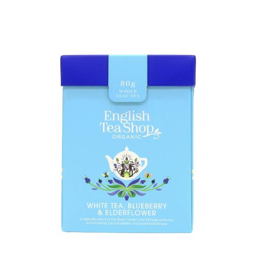White Tea, Blueberry & Elderflower herbata sypana 80g